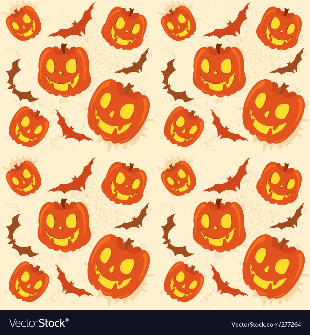Pumpkin background vector image