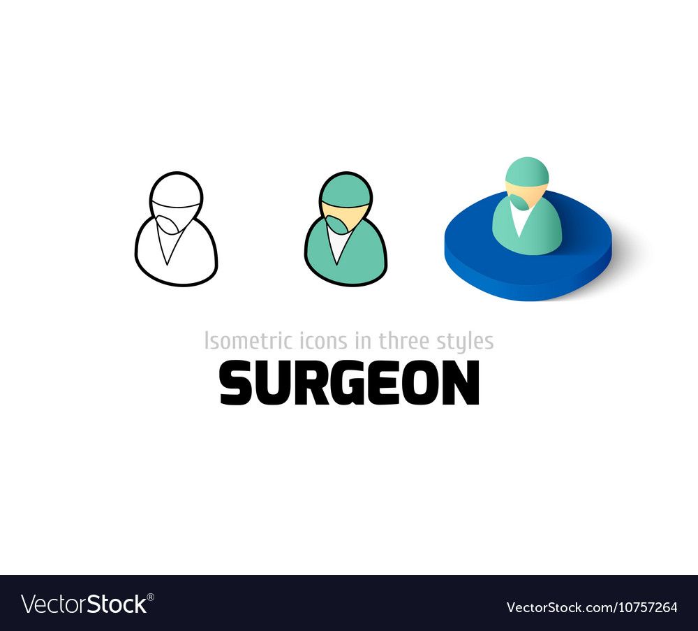 Surgeon icon in different style