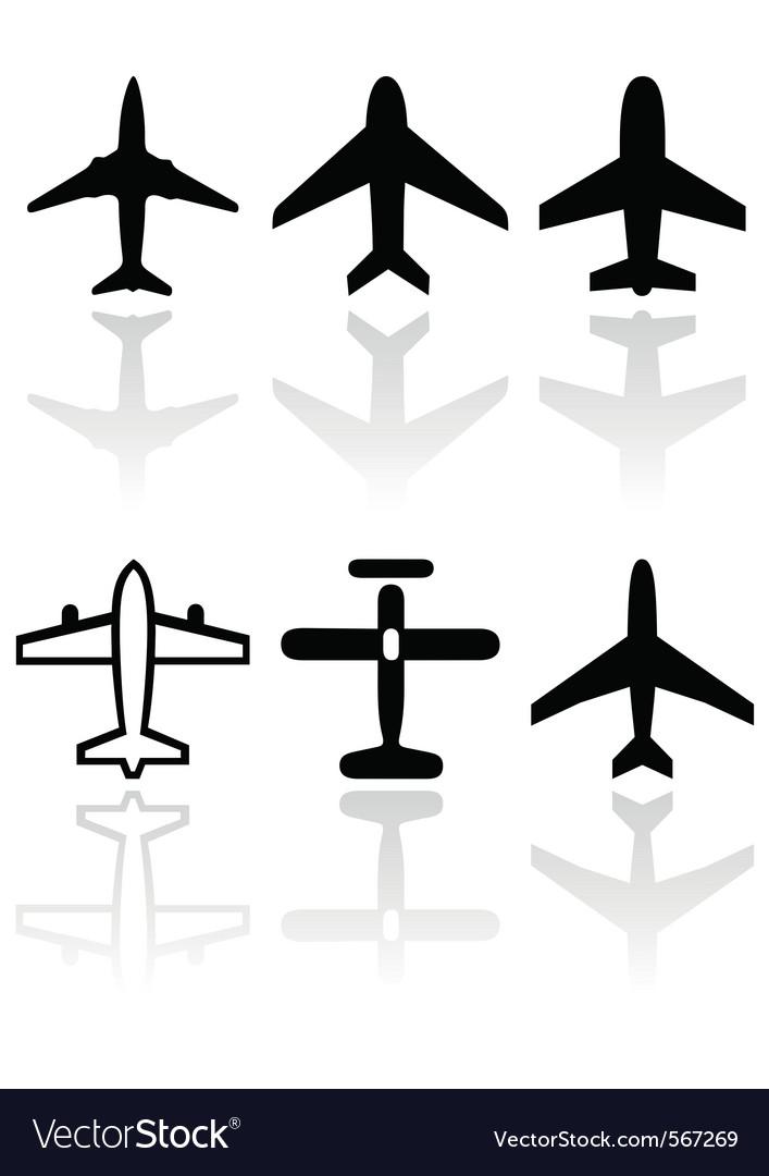 Airplane symbol set