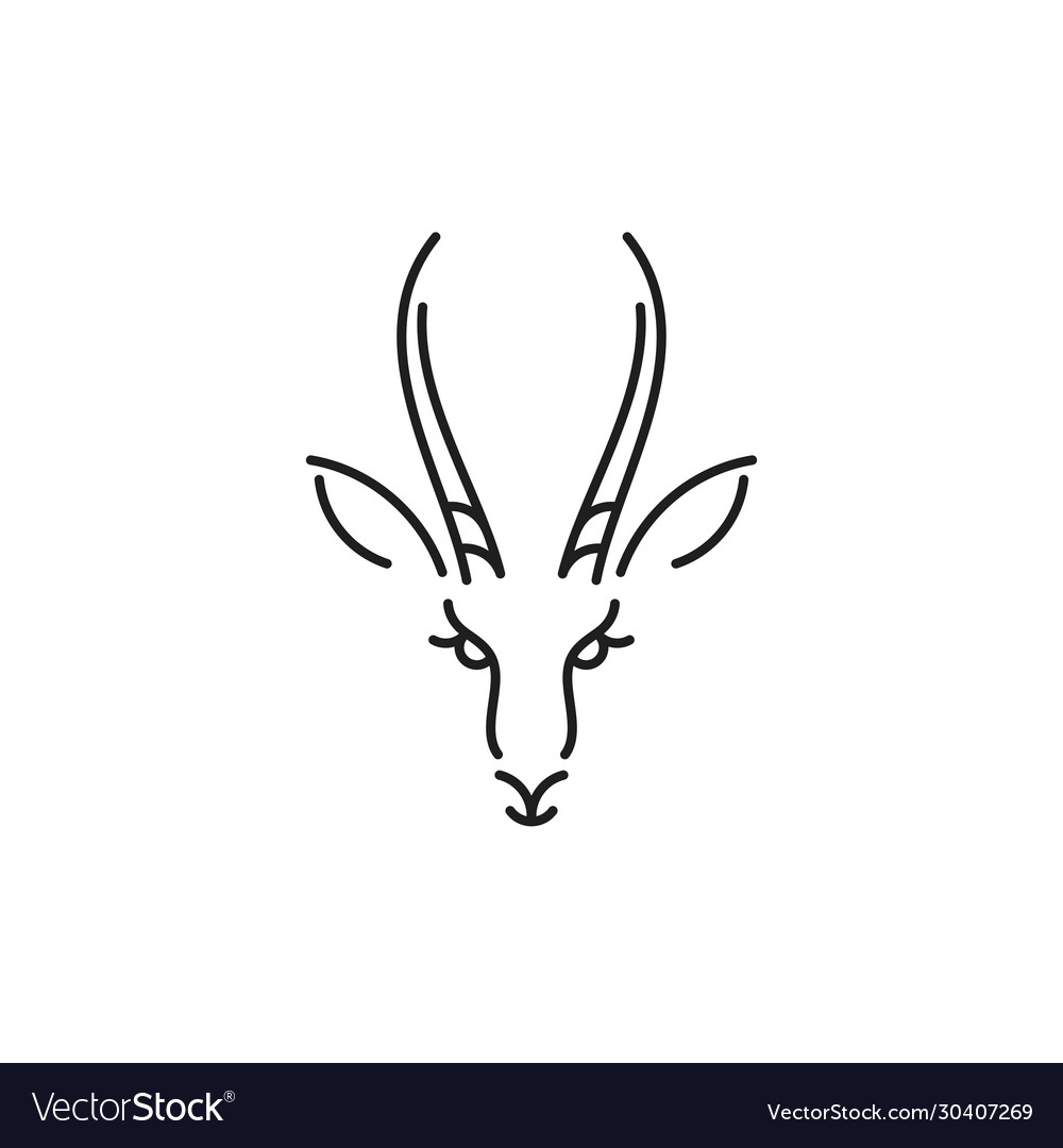 Antelope springbok outline style