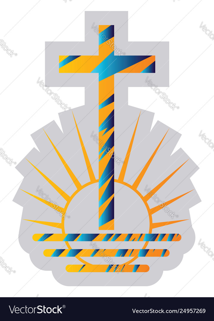 Blue and yellow symbol a new apostolic