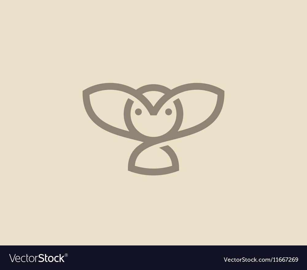 Owl logo design Linear bird creative