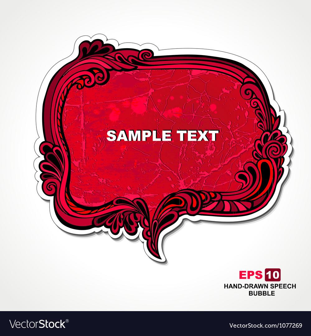 Retro style red speech bubble