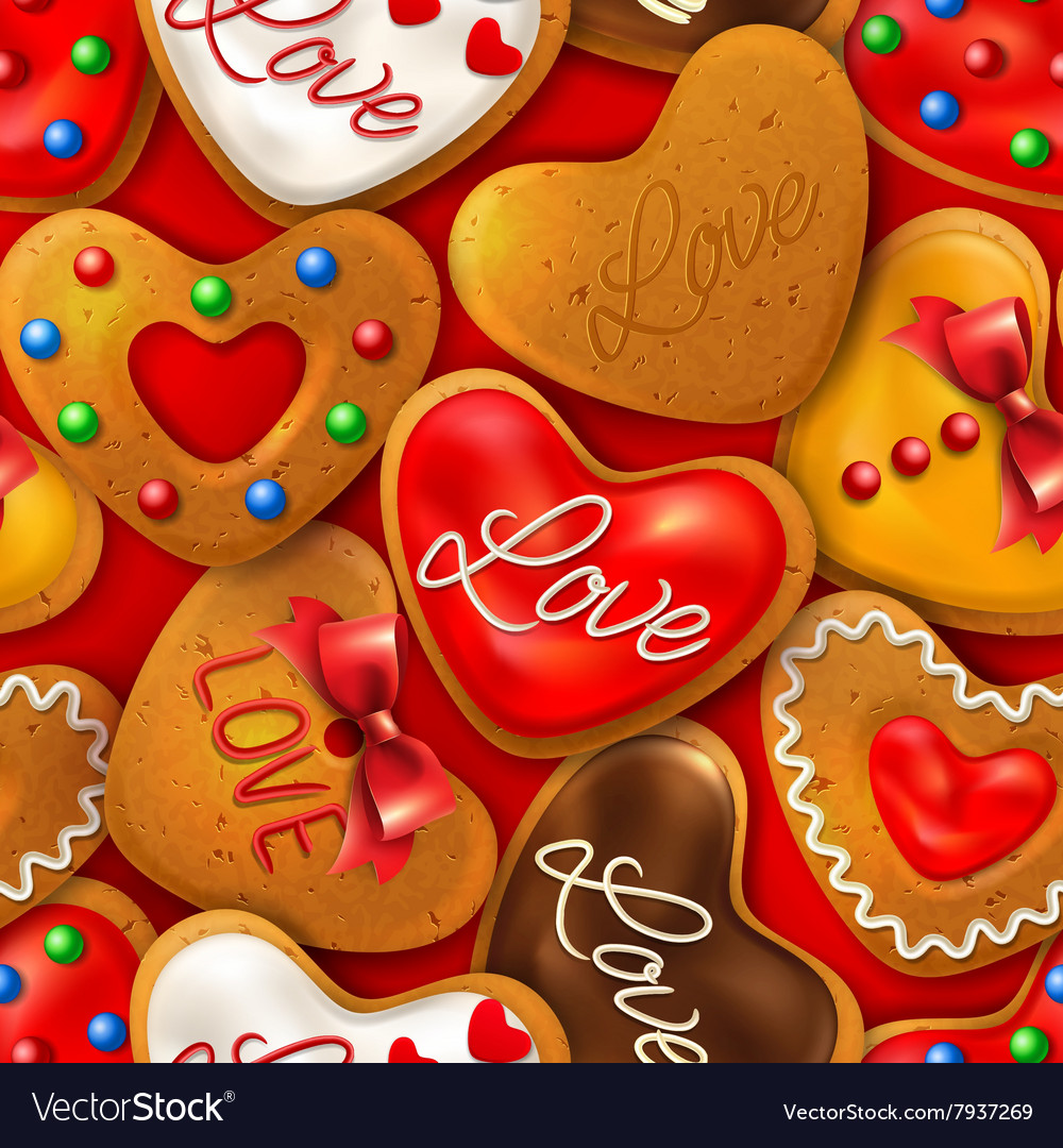 Seamless background with happy valentines day