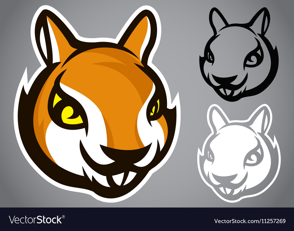 Squirrel head brown logo emblem