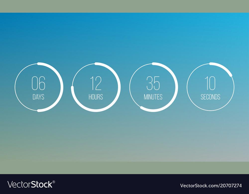 Countdown clock counter digital timer