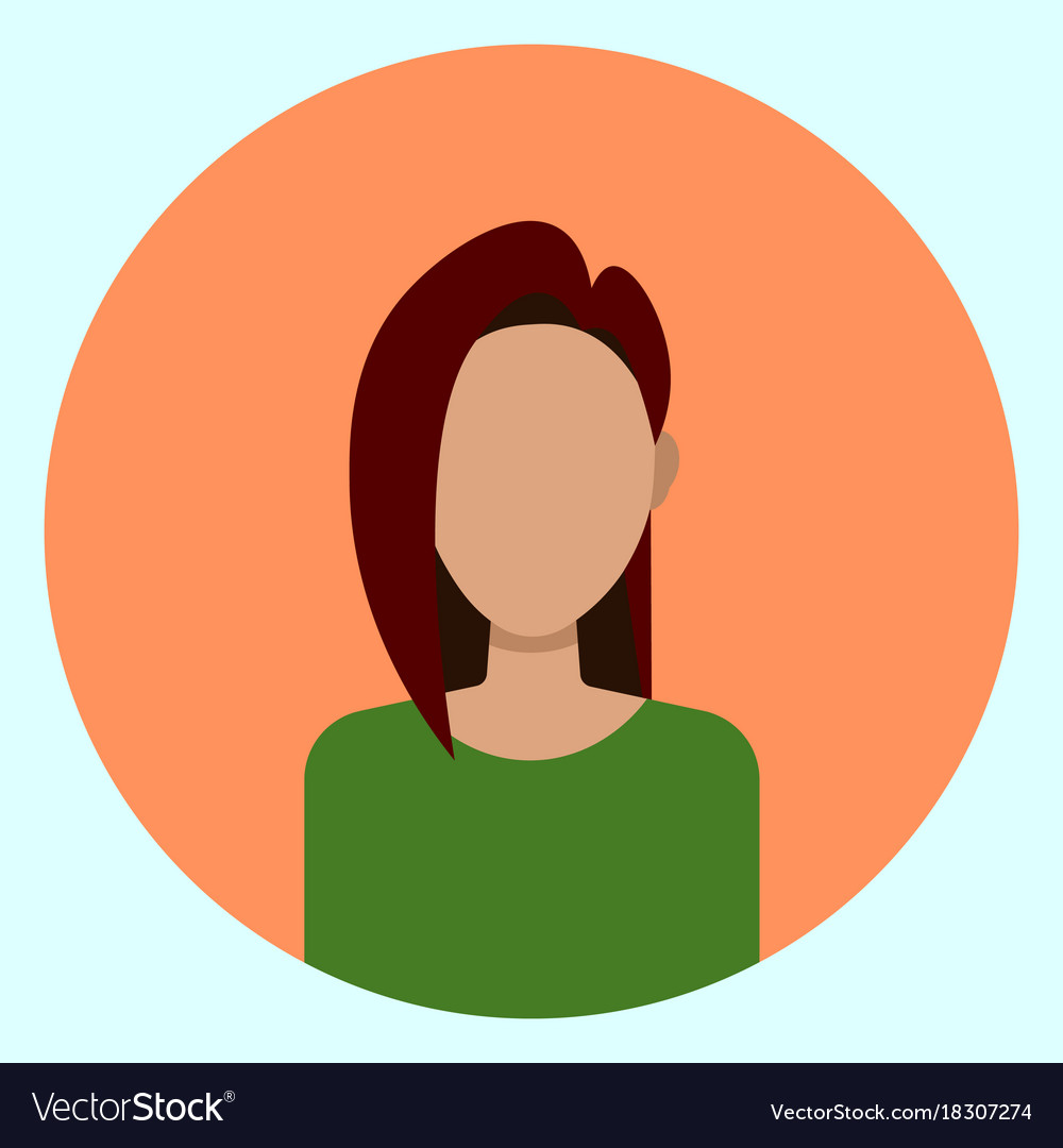 female avatar profile icon round woman face vector image rh vectorstock com face vector png face vector online