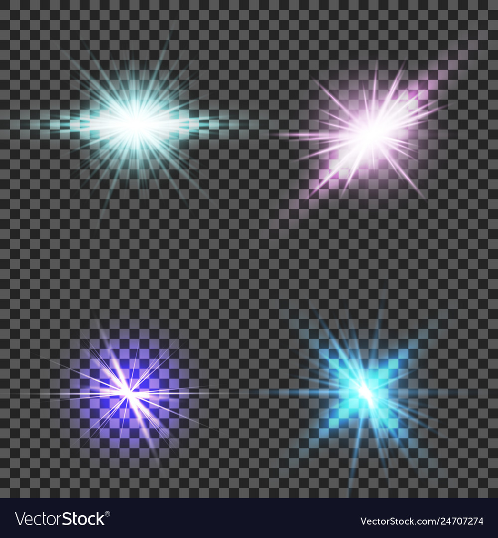 Glow light effect star burst with sparkles sun