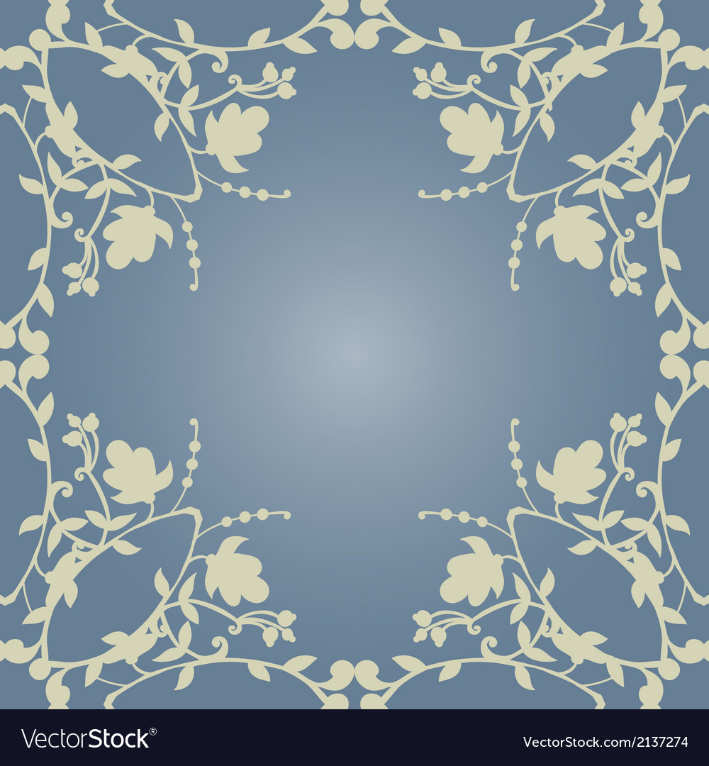 Neutral Floral Wallpaper Plant Swirls And Curves Vector Image