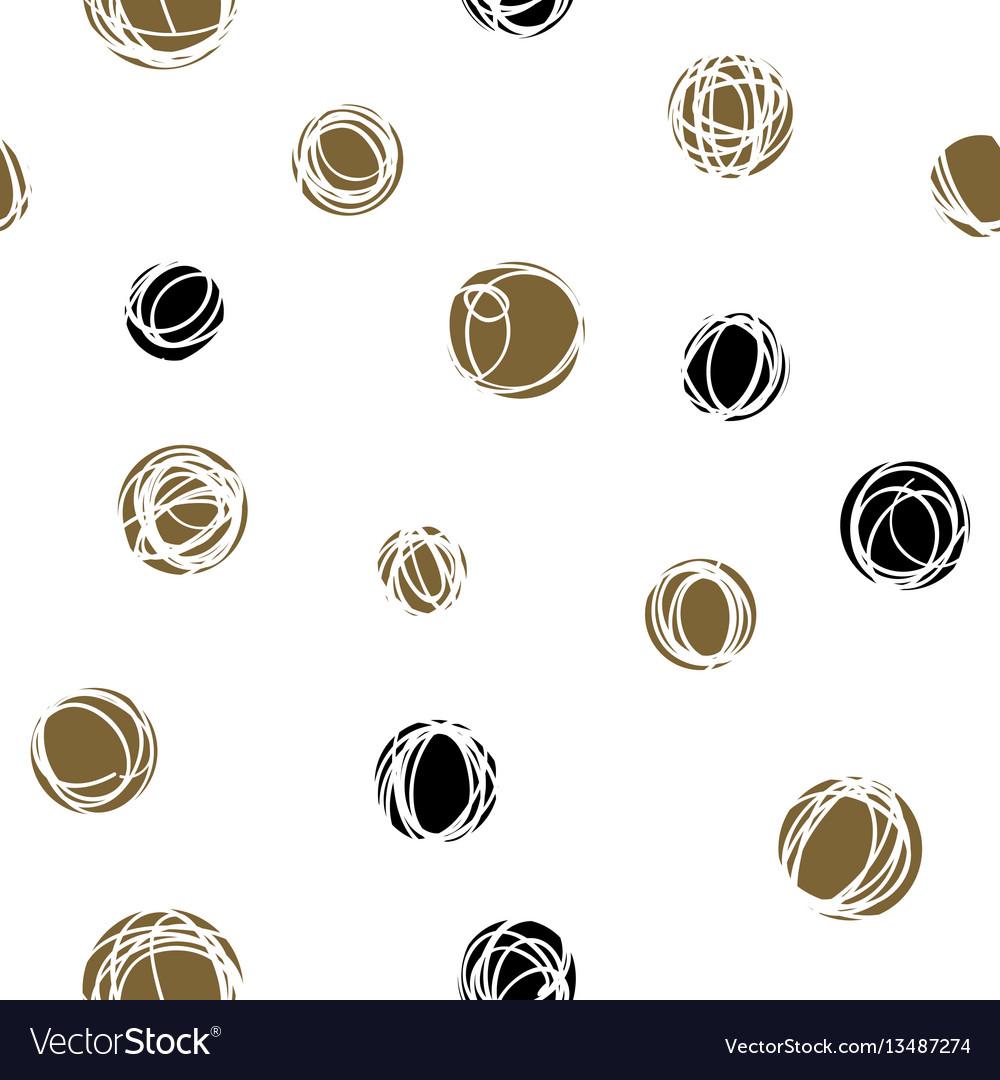 Sloppy circles random doodle dots seamless pattern