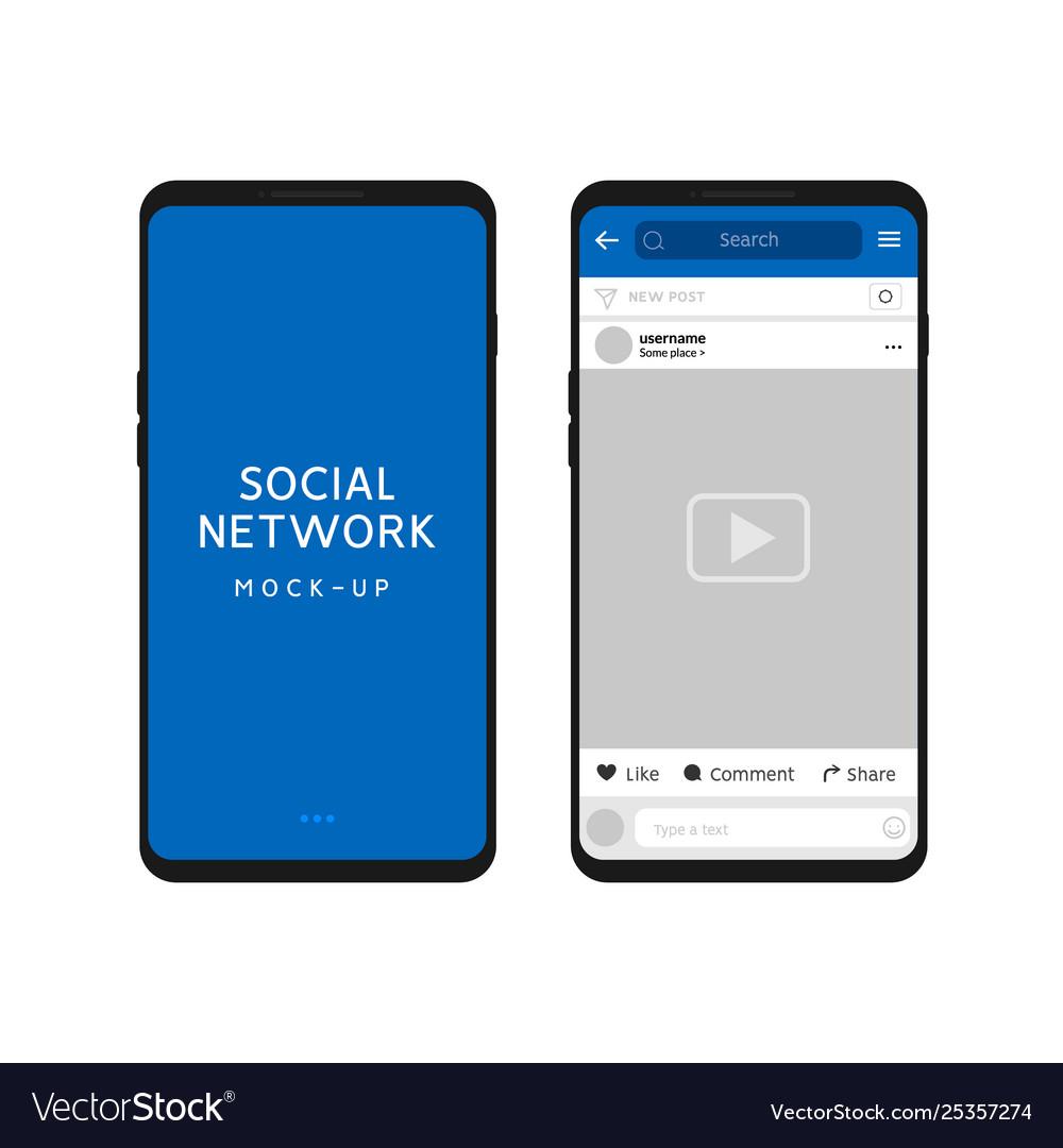 Social network template social frame post