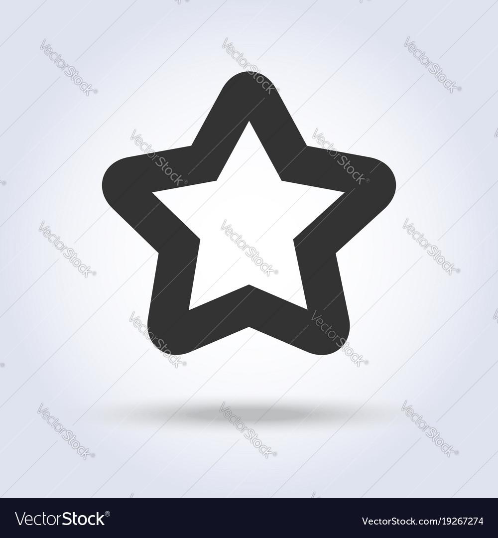 Star shape icon in flat design
