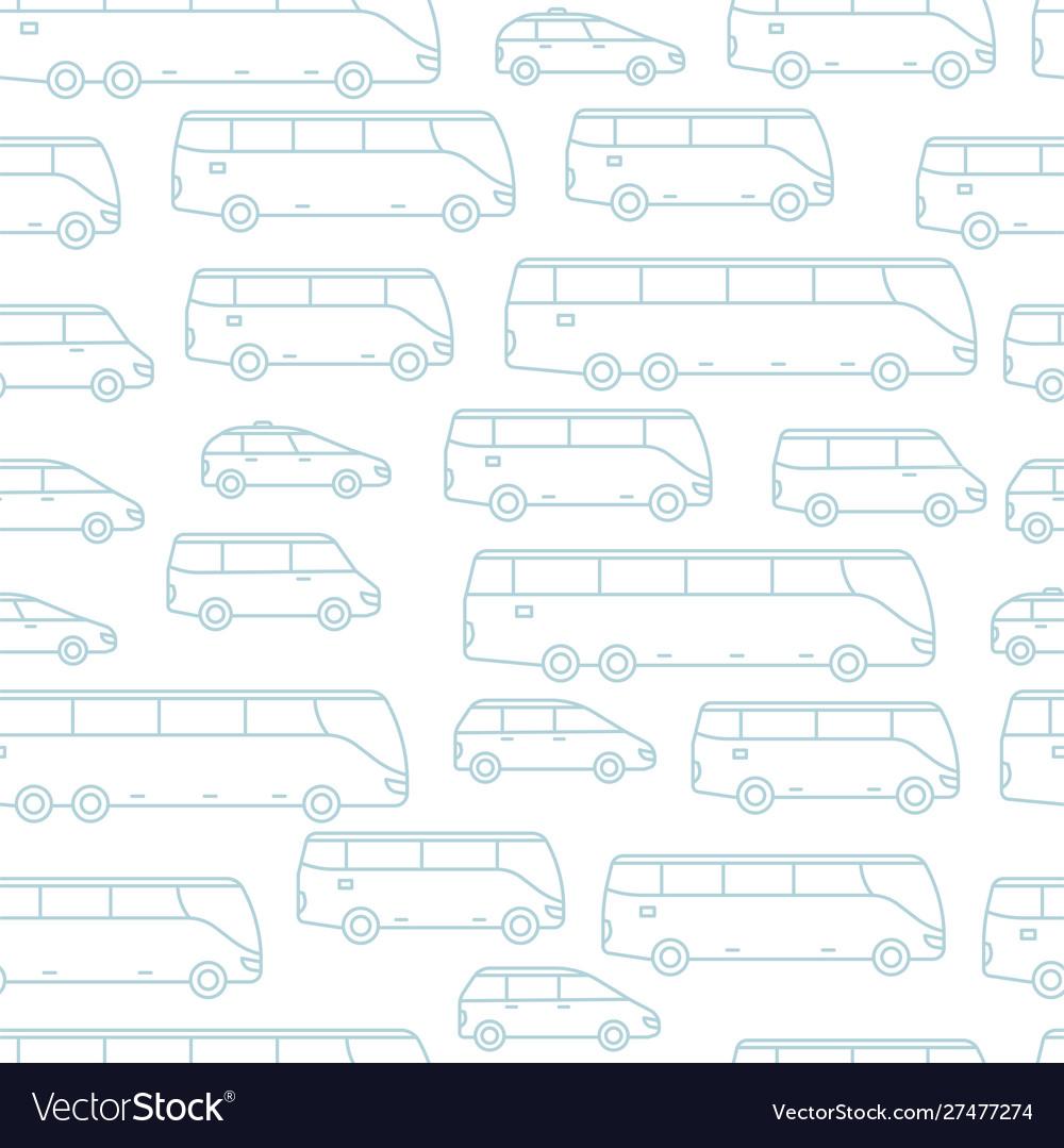 Transport seamless pattern background passengers