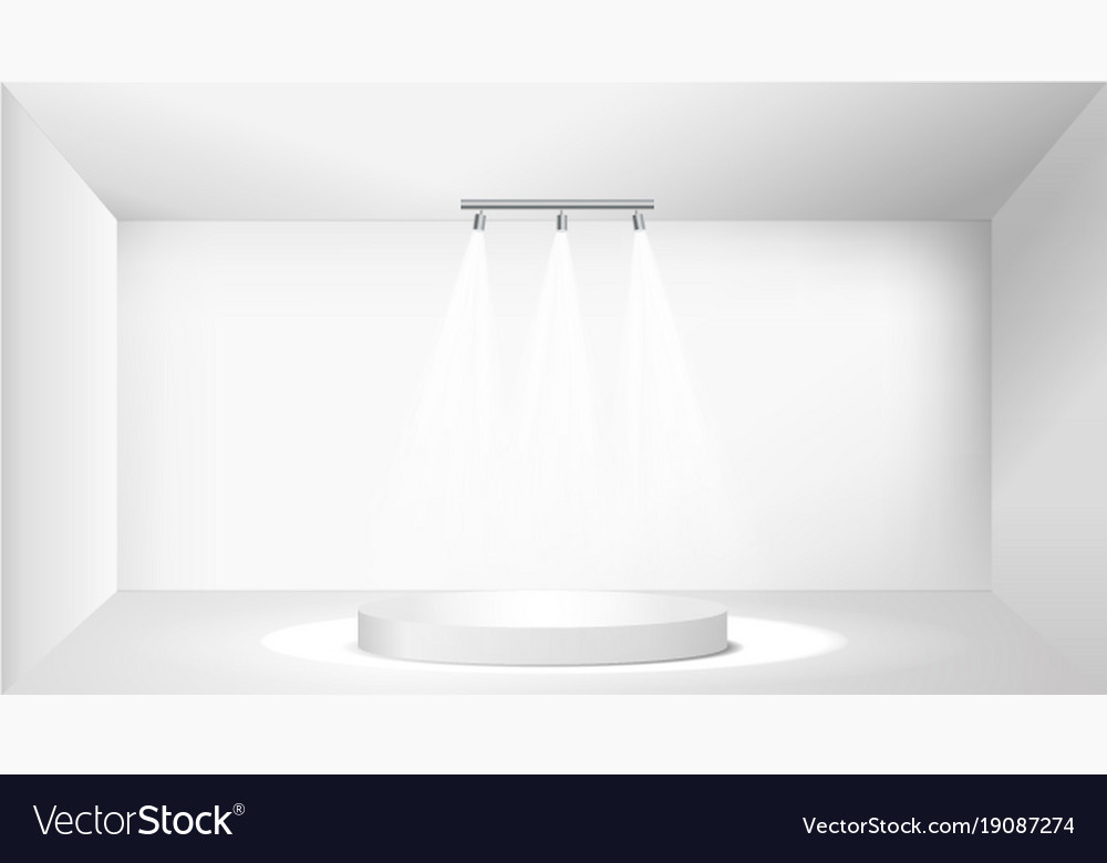 White round empty podium pedestal scene vector image