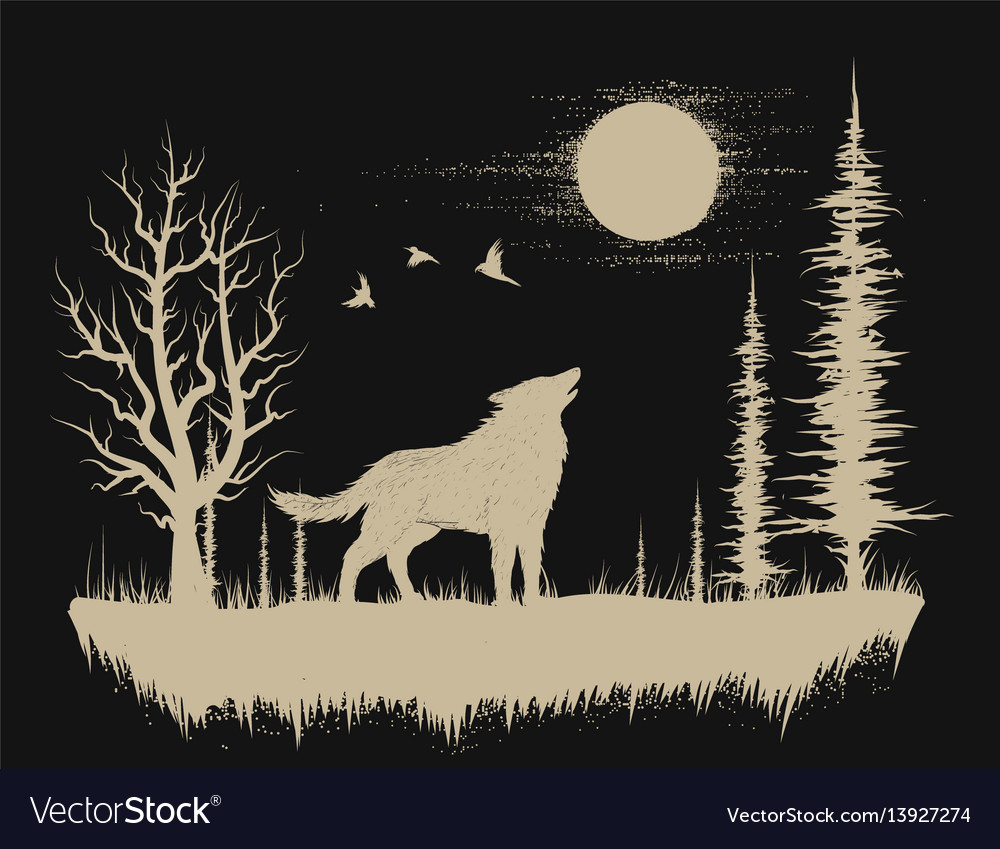Wolf in the strange forest