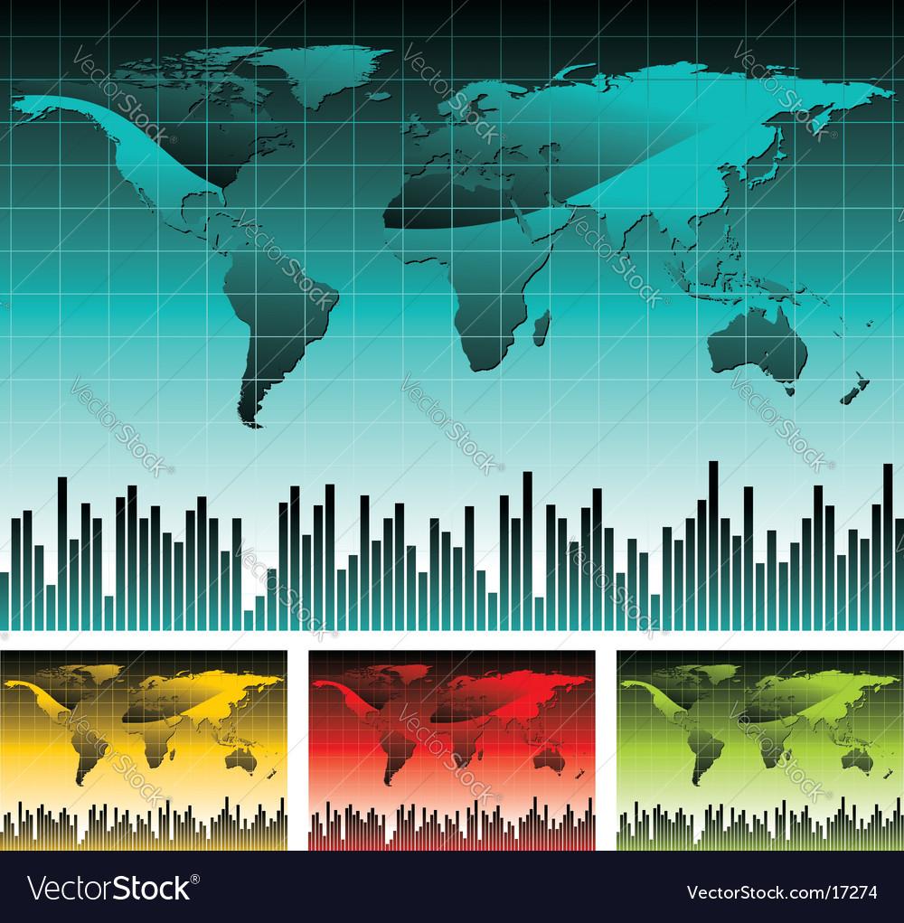 World map illustration vector image
