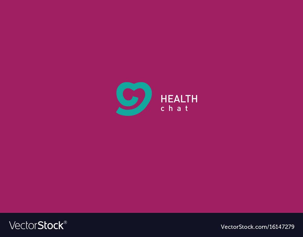 Bright logo on medicine and health