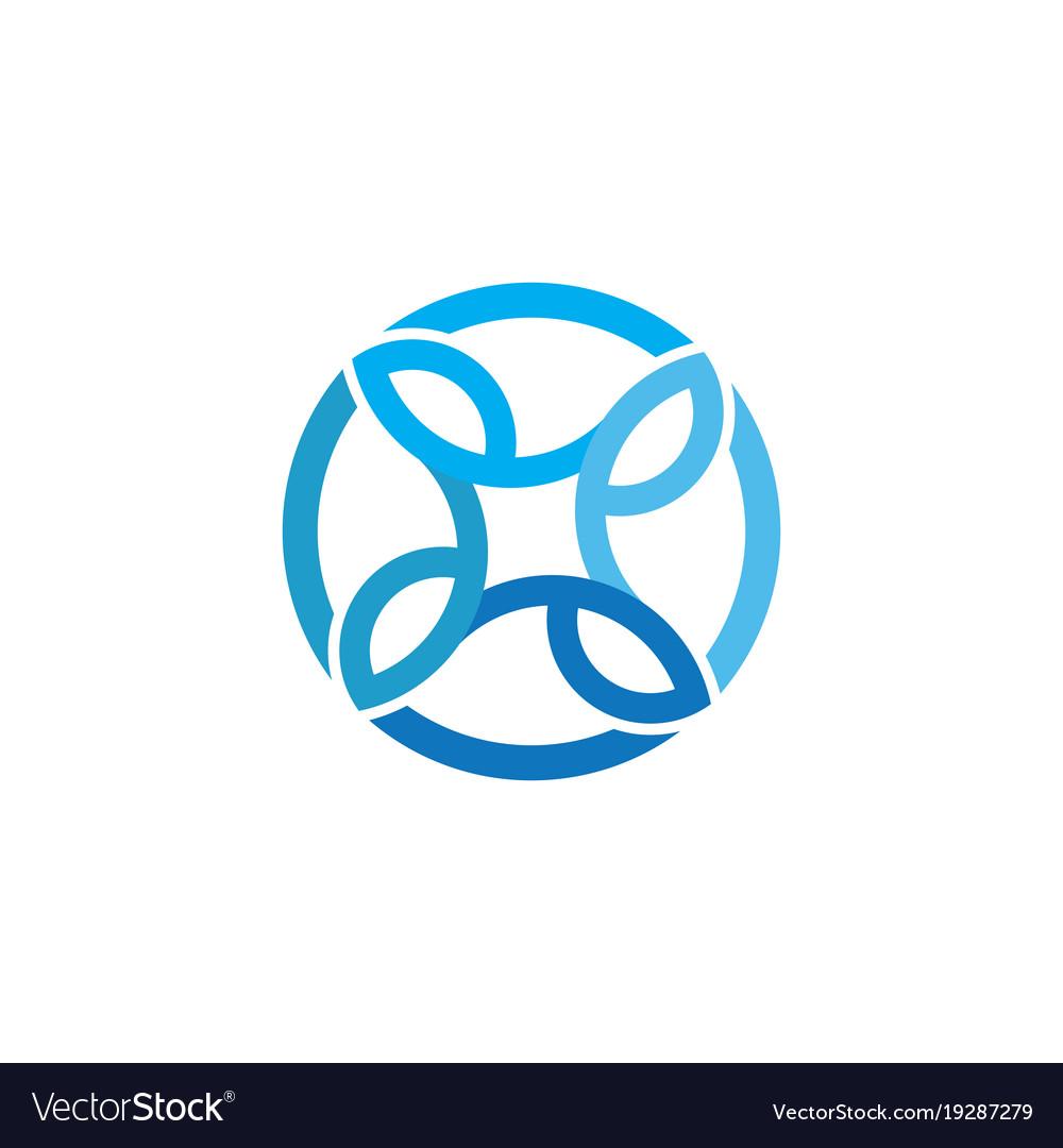 Circle business ornament logo