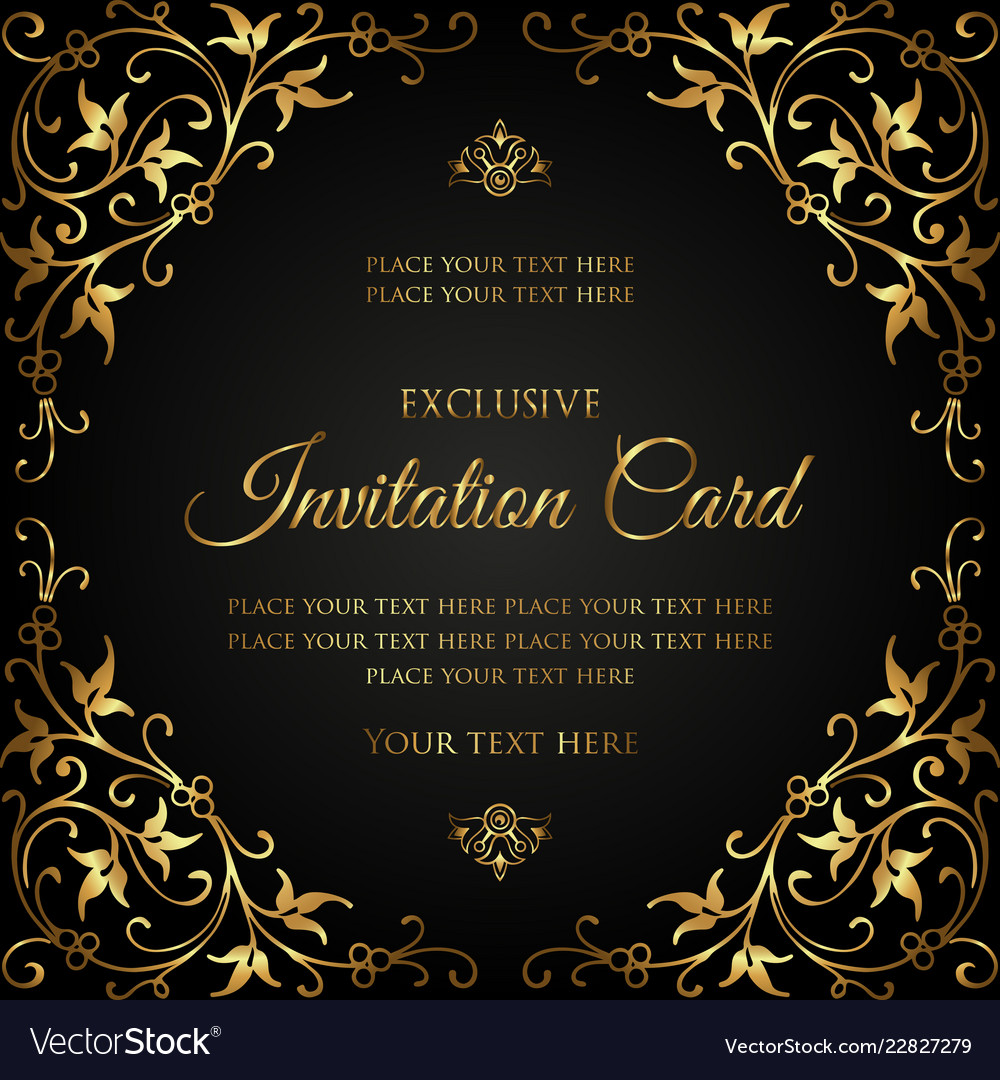 Exclusive invitation card