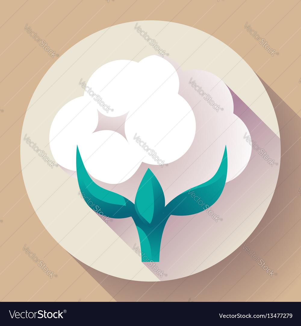 Flat cotton icon