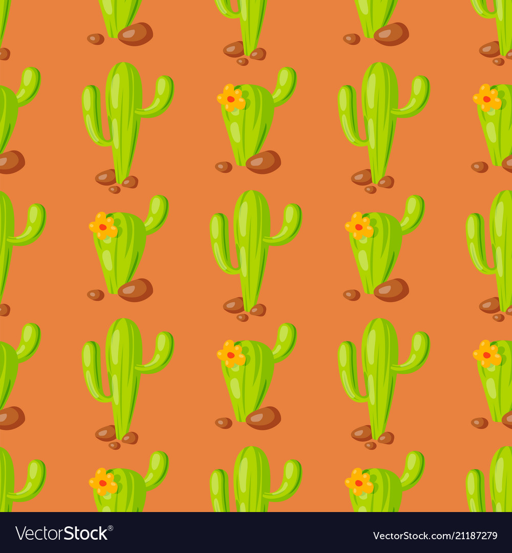 Nature succulent home cactus tropical plant vector image