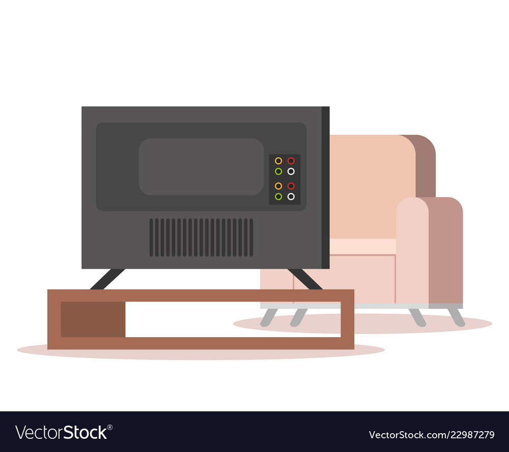 Plasma Tv Back In Livingroom Royalty Free Vector Image
