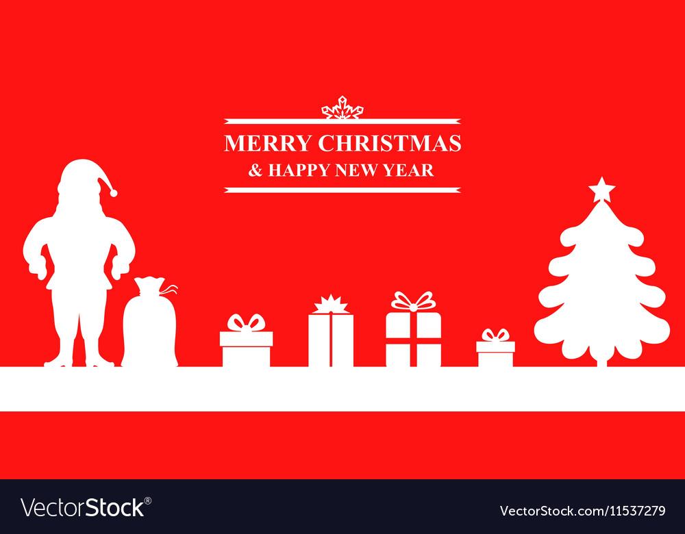 Santa baner vector image