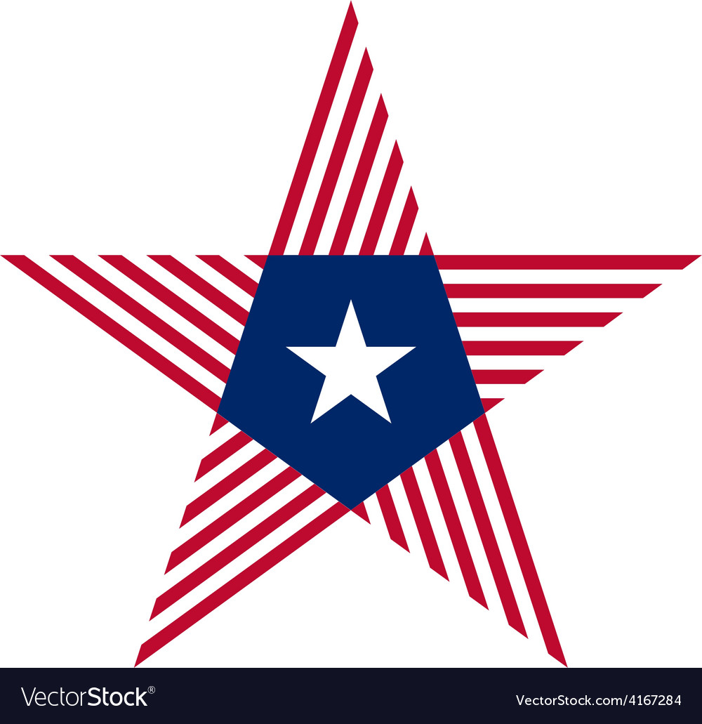 Abstract Star With Liberia Flag Colors And Symbols