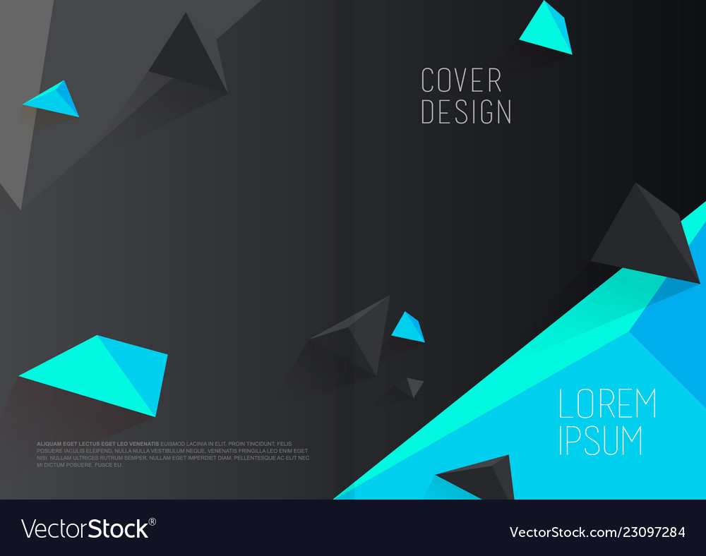 Book cover design template with abstract