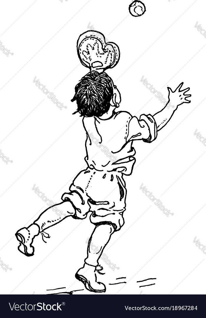 Boy Catching Ball Vintage