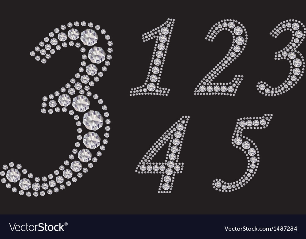 Diamond number set from 1 to 5