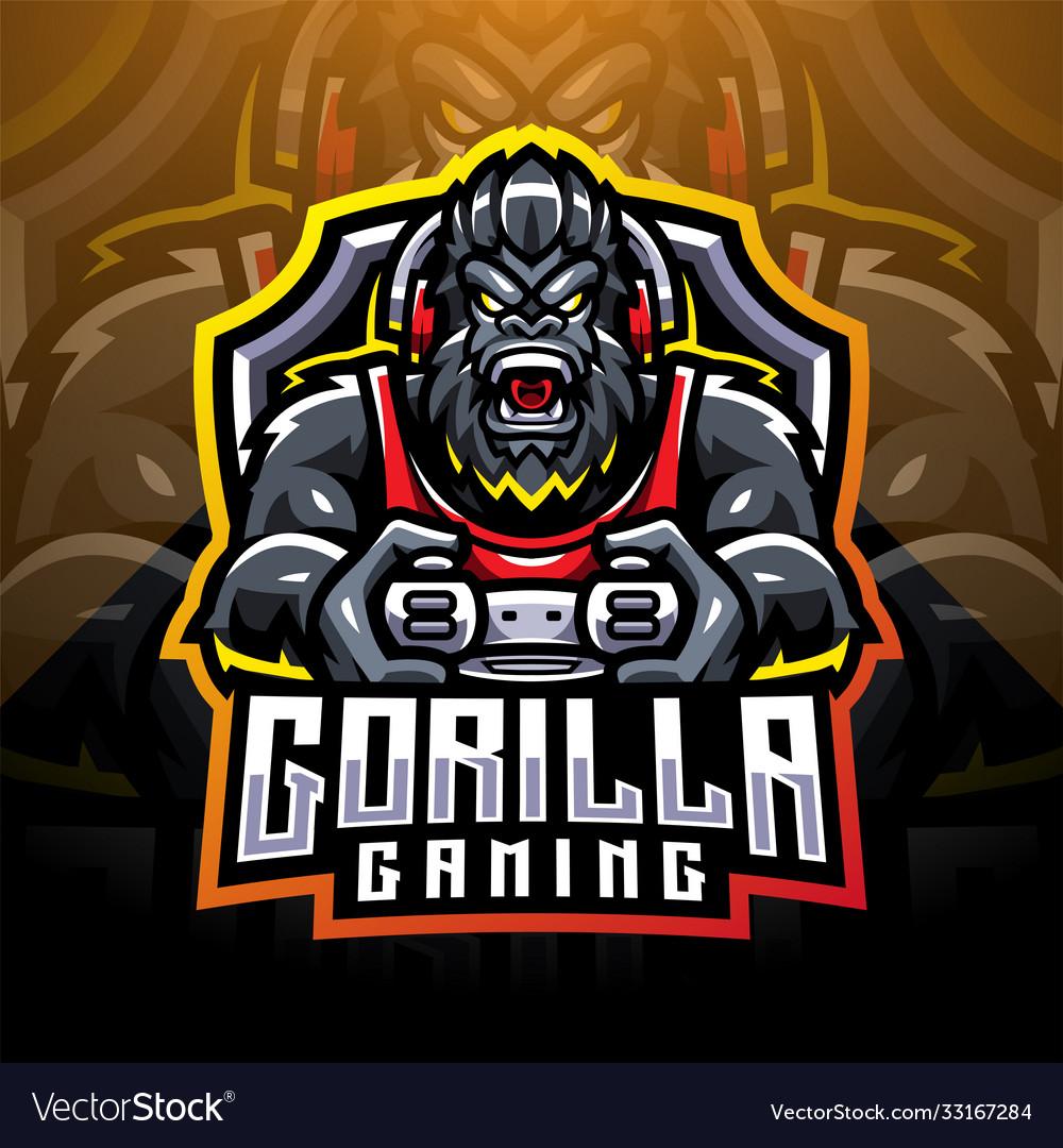 Gorilla gaming esport mascot logo