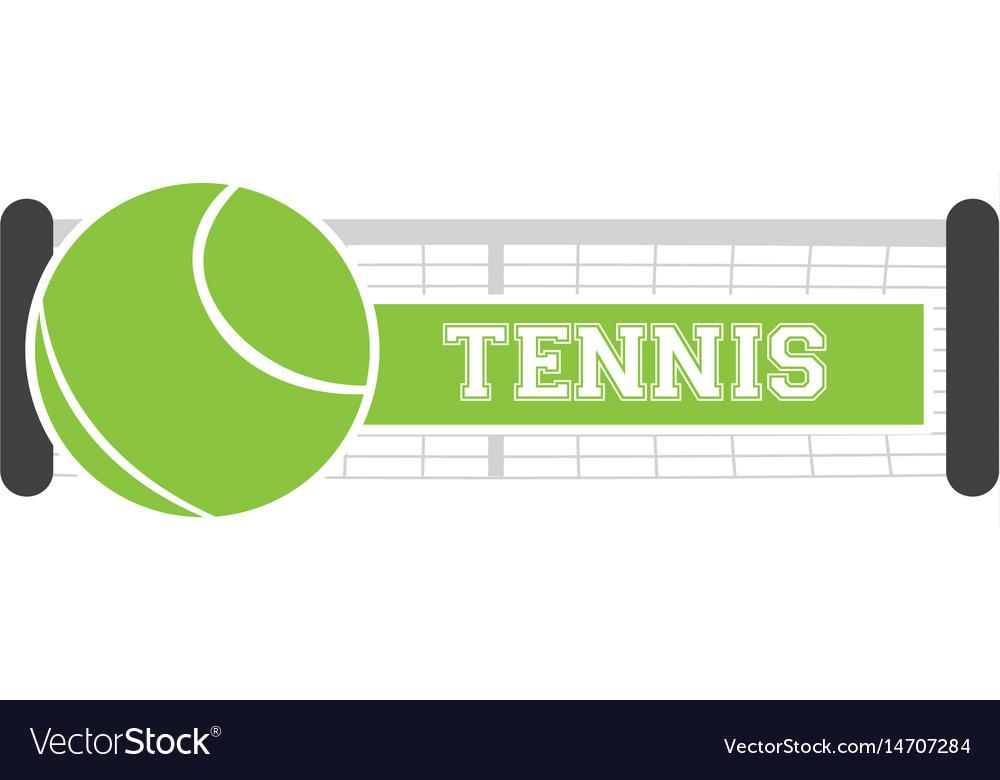 Isolated tennis net