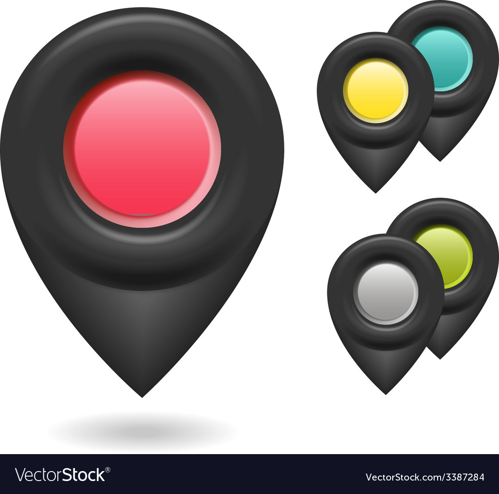 Set of colorful 3d buttons