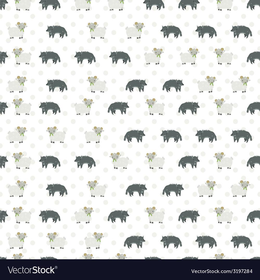 Sheep and wolf pattern