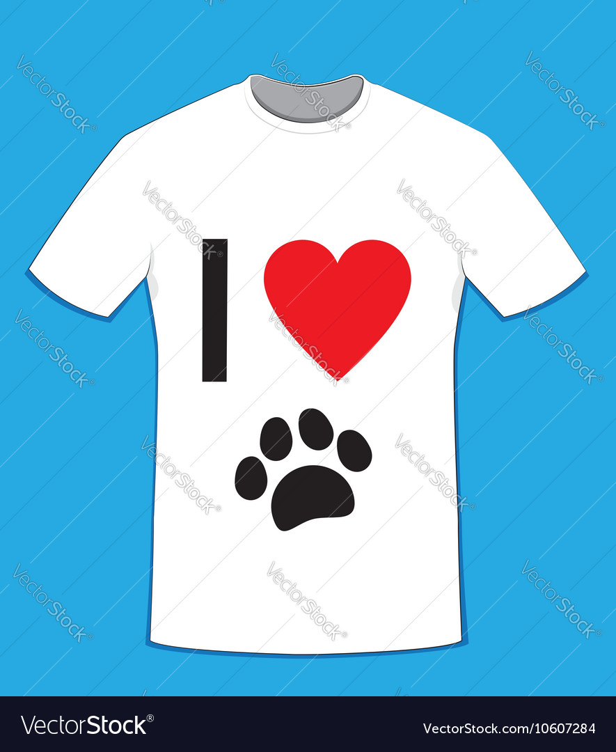 T Shirt Love Dogs Royalty Free Vector