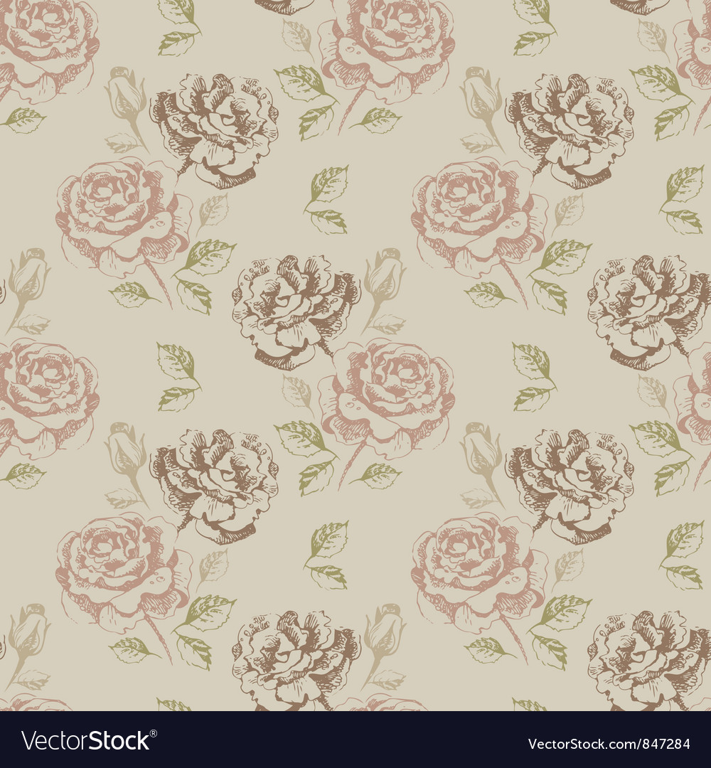 Vintage seamless floral
