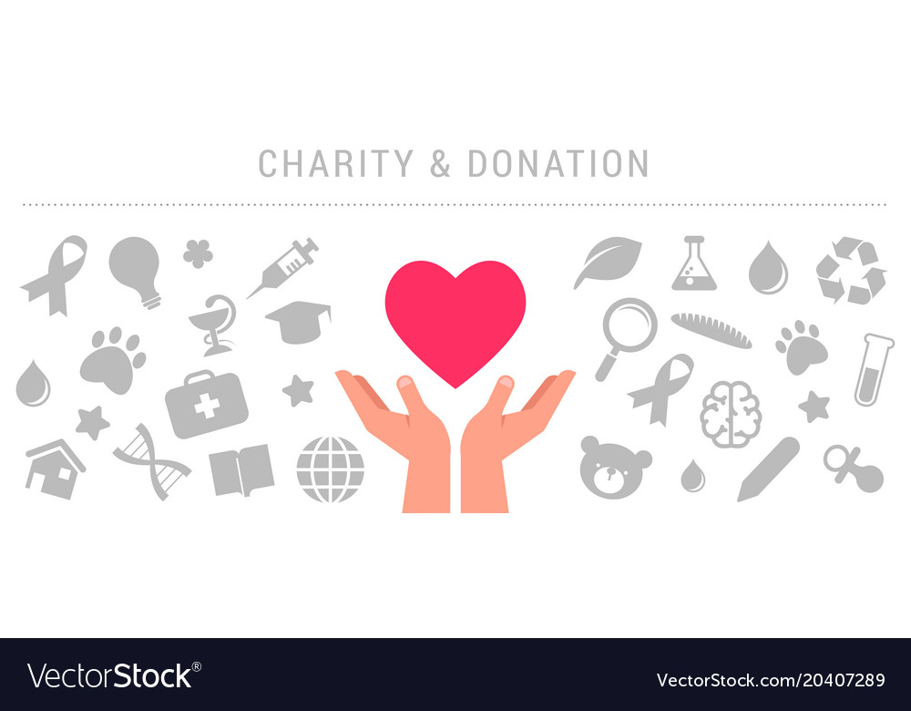 charity giving and donation poster template vector image