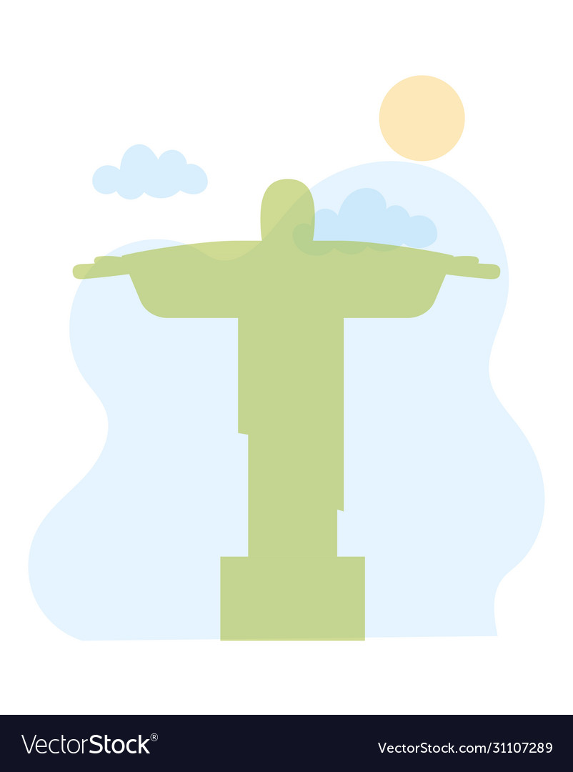 Christ redeemer corcovado landmark skyline