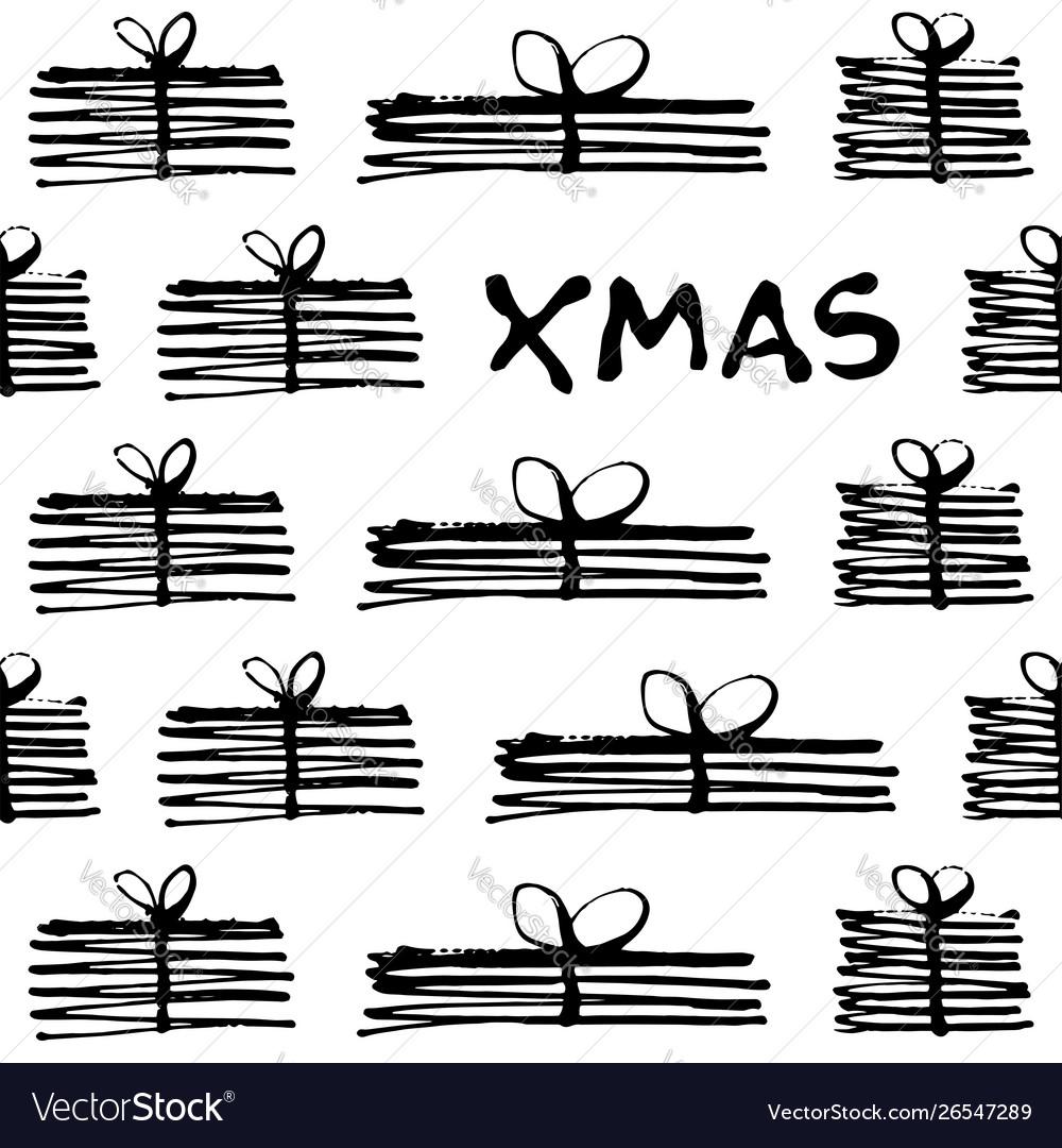 Christmas gifts seamless pattern