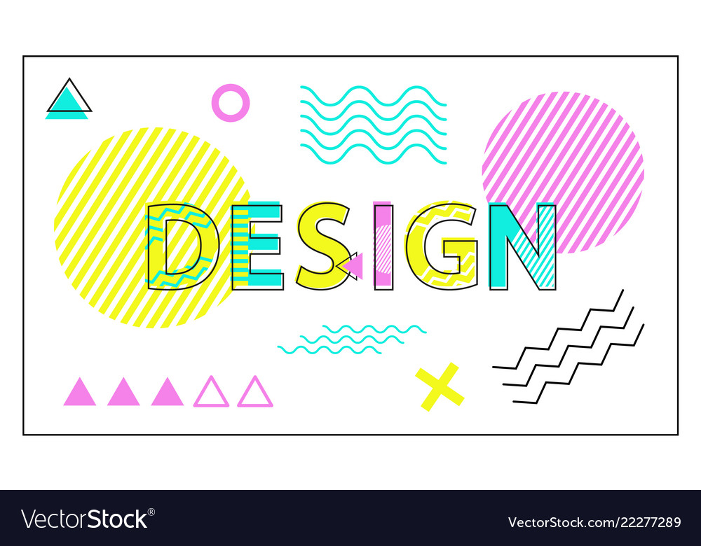 Design colorful banner with geometric figures set