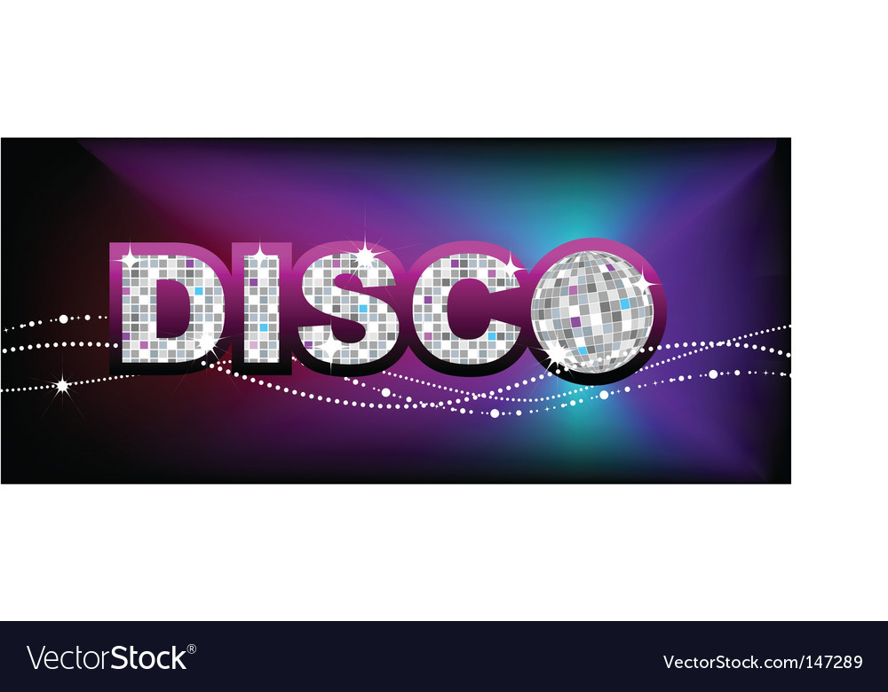 disco ball party poster template royalty free vector image
