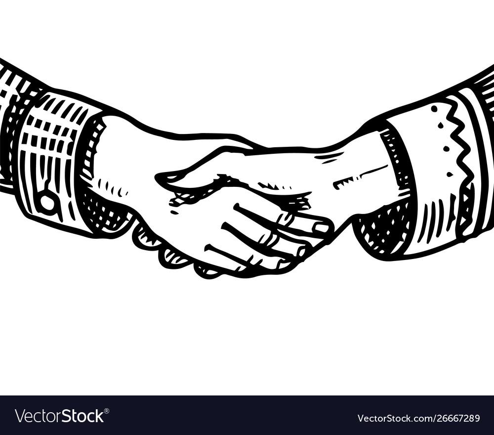Handshake peoples symbol friendship and