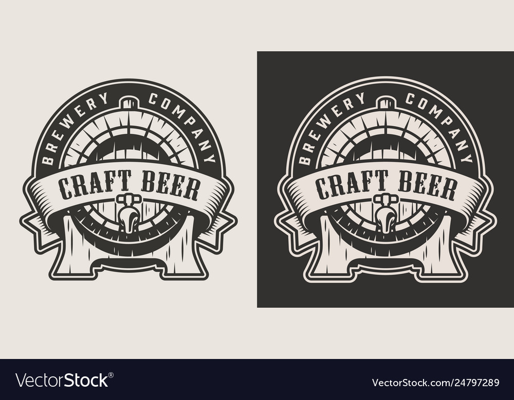 Monochrome brewing emblem