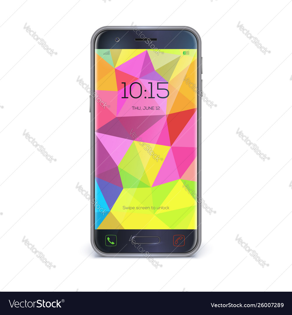 Smartphone mobile phone isolated on white