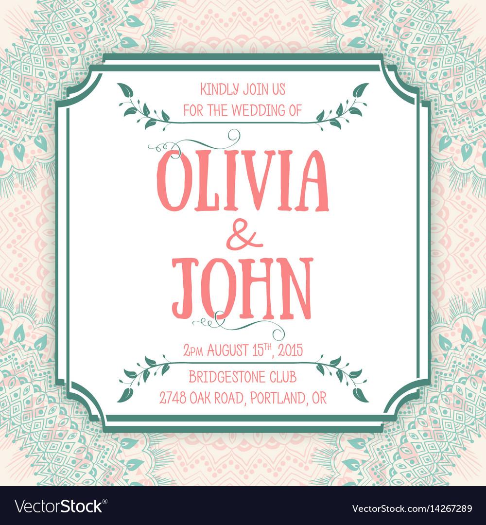 Wedding invitation card invitation card with