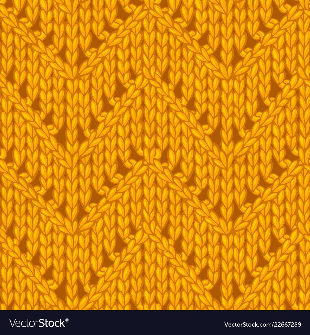 Yellow zigzag chevron stitch pattern