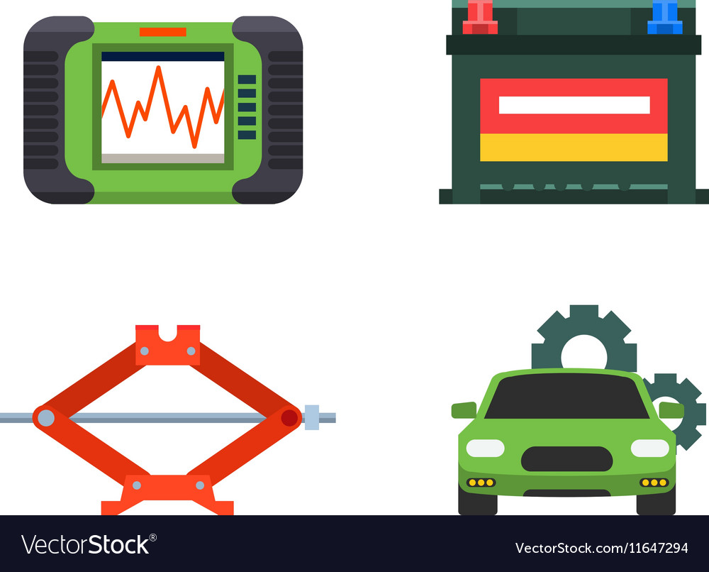 Car service repair icons set