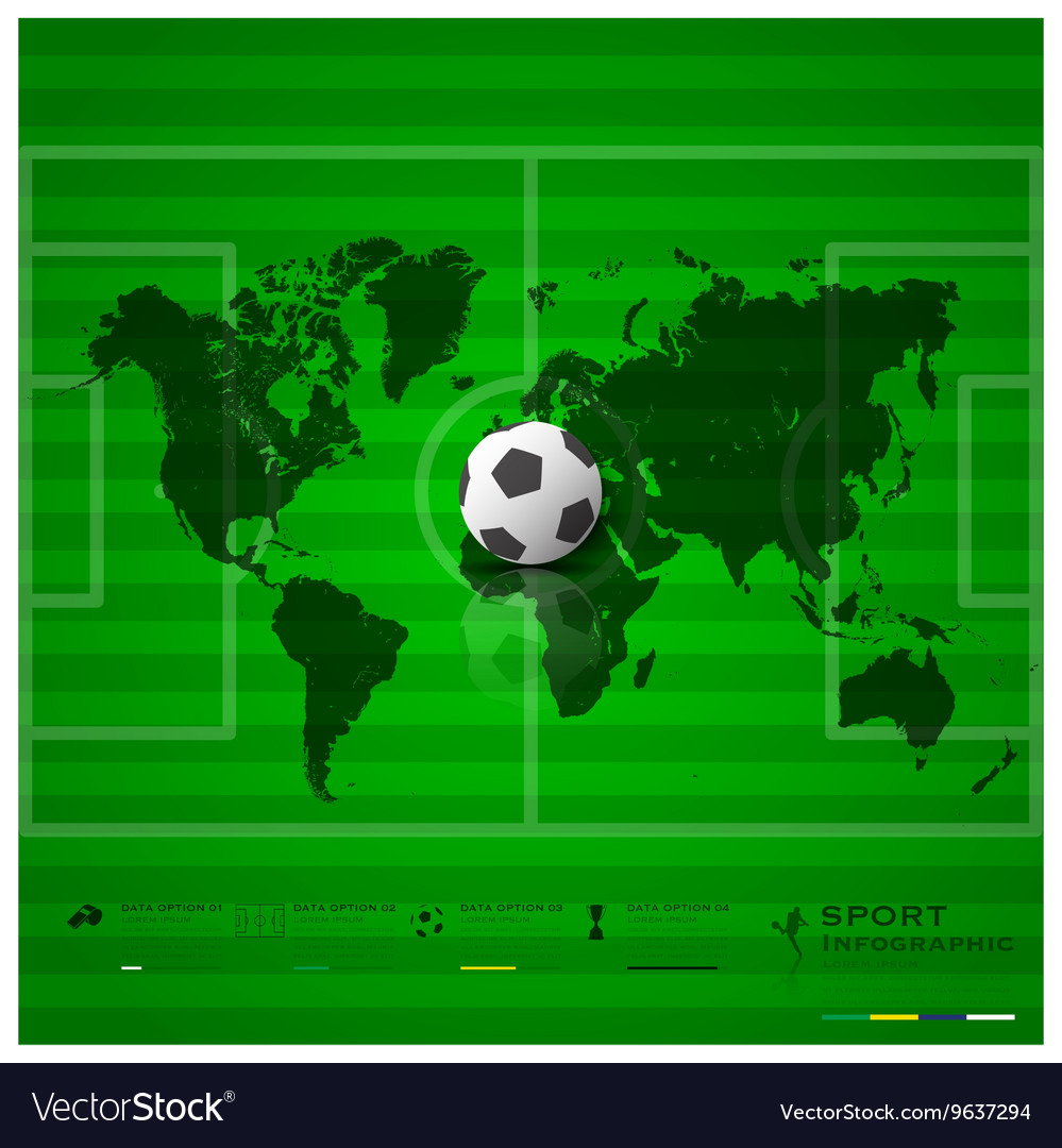 Football Field Sport Infographic Background Design vector image