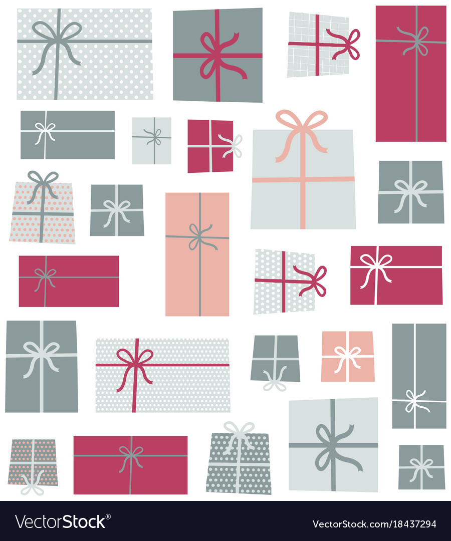 Gifts seamless pattern background